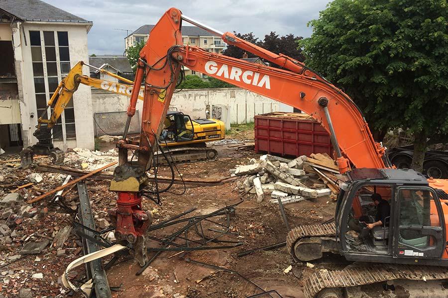 Garcia Frères réalise le tri des matériaux sur le chantier.